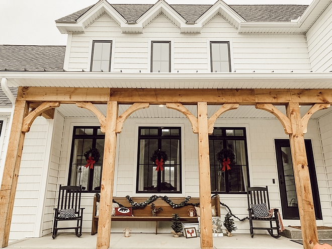Timber Front Porch Columns Timber Front Porch Columns Custom Timber Front Porch Column Ideas Timber Front Porch Columns #TimberPorch #TimberColumns #FrontPorch