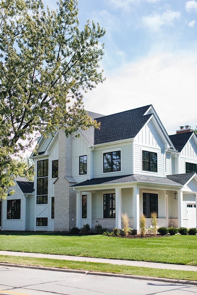 Black Windows are Sherwin Williams Tricorn Black SW 6258 The black windows are Pella #BlackWindows #SherwinWilliamsTricornBlack #SherwinWilliamsSW6258 #windows