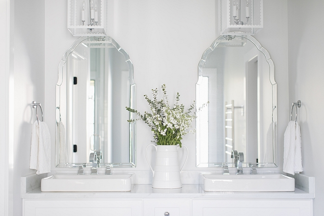 Beveled Frameless Arched Mirror Bathroom Mirrors Beveled Frameless Arched Mirror #bathroommirrors #Beveledmirror #ArchedMirror