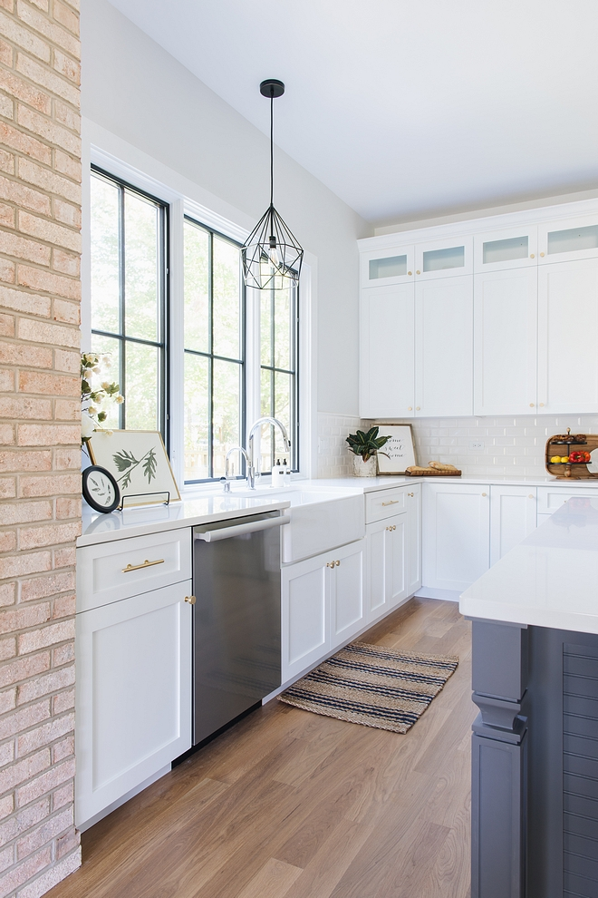 Kitchen Cabinets are custom shaker-style, Maple Paint color is Extra White by Sherwin Williams White Kitchen Kitchen Cabinets are custom shaker-style, Maple Paint color is Extra White by Sherwin Williams #KitchenCabinets #shakerstylecabinet #Maple #Paintcolor #ExtraWhiteSherwinWilliams