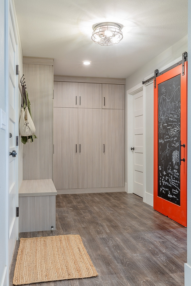 Sherwin Williams Cayenne SW 6881 Mudroom Barn Door Paint Color Sherwin Williams Cayenne SW 6881 Sherwin Williams Cayenne SW 6881 Sherwin Williams Cayenne SW 6881 #SherwinWilliamsCayenne #SherwinWilliamsSW6881