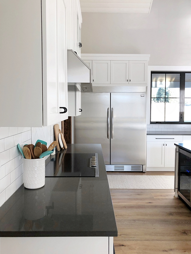 I wanted to give you one of the best cost saving tips if you're building or remodeling a kitchen. Our fridge looks and functions like an expensive unit but it's really just two separate, simple units with a trim piece attached. Ours is by Frigidaire and we love it! Saved us a bunch of money but we still have the look and function of something much more expensive #refrigerator #freezer #kitchen #appliances