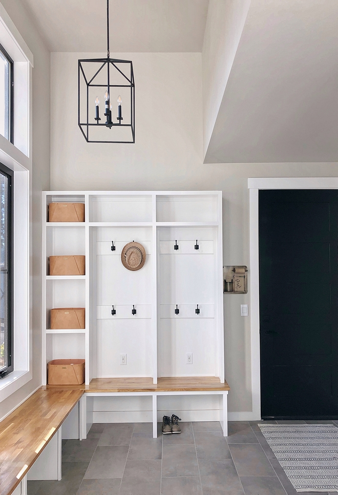 Butcher block mudroom bench Butcher block mudroom bench ideas Ikea Butcher block mudroom bench #Butcherblock #mudroombench