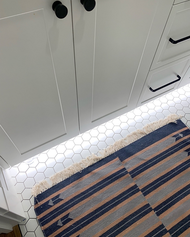 Toe kick lighting under vanity My favorite feature is their toe kick lighting that is motion activated Great for kids in the night #Toekicklighting #vanity #vanitylighting