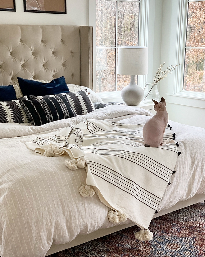 We wanted our bedroom to feel calm and serene #masterbedroom #sereneinteriors #serenebedroom