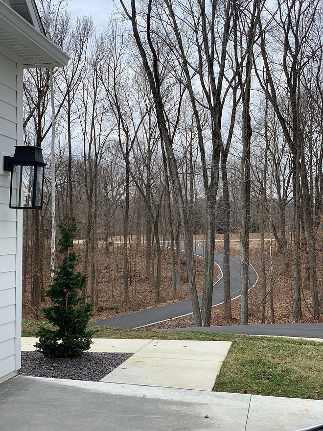 Our long winding driveway is something I always envisioned my home having. I love that my kids can go exploring in the woods, our dog can roam our property, and I can watch the deer each morning through the kitchen windows