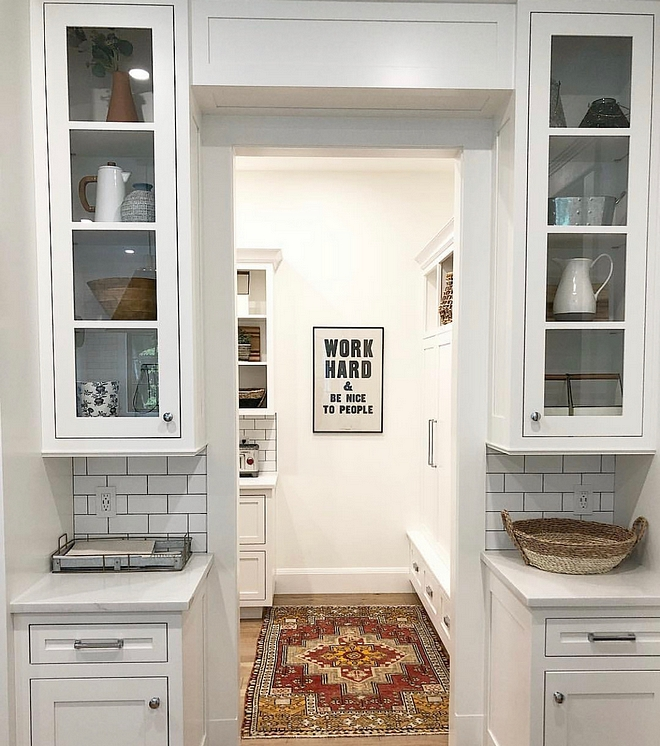 Mudroom off kitchen This may be our most functional space in our home We combined a mudroom with pantry to create almost an extension of our kitchen #Mudroomoffkitchen #Mudroom #Mudrooms