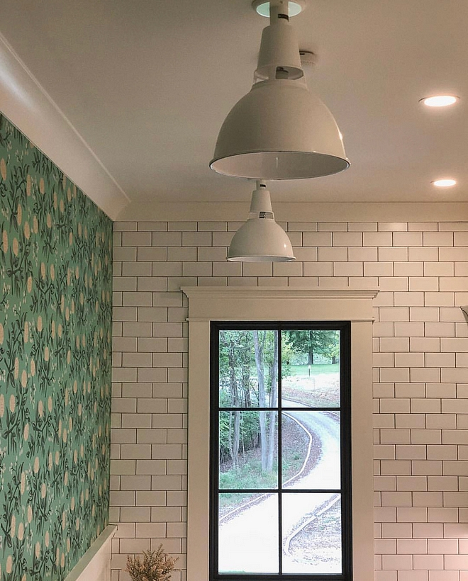 Black window with white trim Black window with white trim and subway tile with black grout Black window with white trim Black window with white trim #Blackwindow #whitetrim #Blackwindowtrim