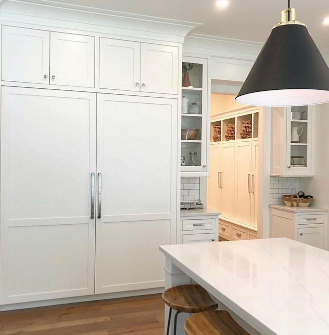 Paneled Refrigerator We chose to hide our fridge and freezer with a panel, making everything look like cabinetry #PaneledRefrigerator #paneledappliances #kitchen #kitchenappliances