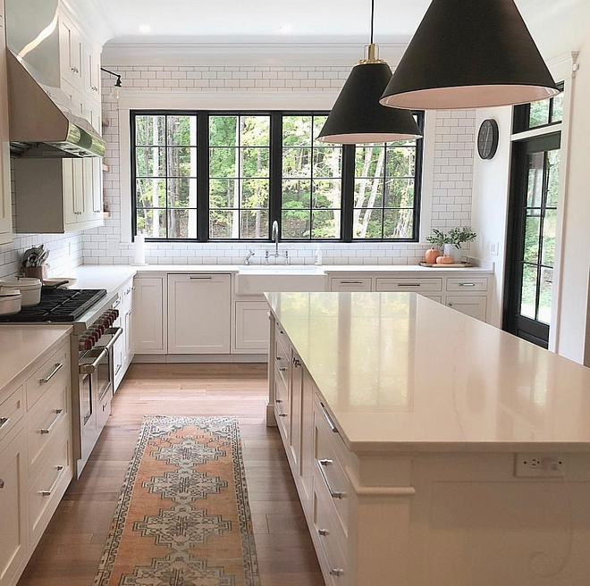 Kitchen windows The kitchen windows were a must have I wanted to be able to see my kids in the backyard, watch the deer each morning, and let as much light in as possible We wanted the outside to be pulled into our home as much as possible #kitchenwindows #kitchen #windows