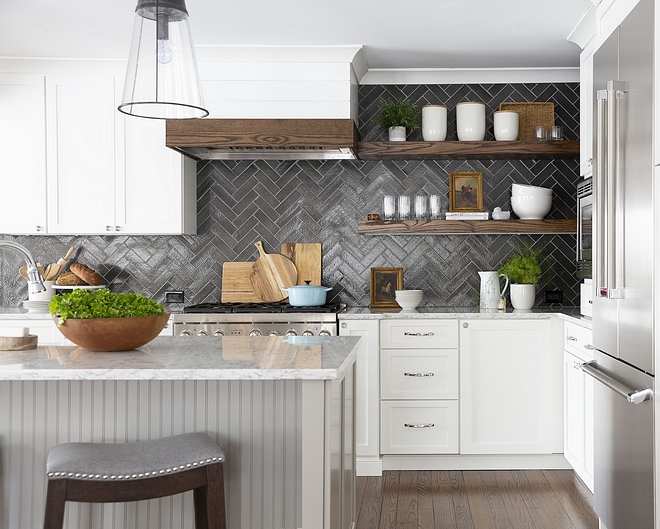 Forgiving backsplash tile Herringbone Backsplash Tile Forgiving backsplash tile ideas #backsplashtile