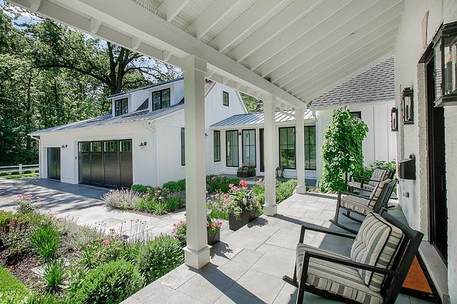 Farmhouse front porch with Bluestone tile in random size Porch Bluestone tile Farmhouse Porch Bluestone tile ##farmhouseporch #porch #frontporch #Porchtile #Bluestone #Bluestonetile