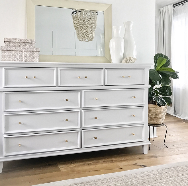 Bedroom white bedroom dresser with acrylic and brass hardware White Bedroom white bedroom dresser with acrylic and brass hardware #Bedroom #whitebedroom #whitedresser #acrylichardware #brasshardware #lucitehardware