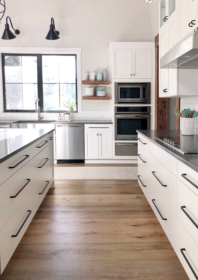 The kitchen hardware is from Ikea BAGGANÄS Handle, black