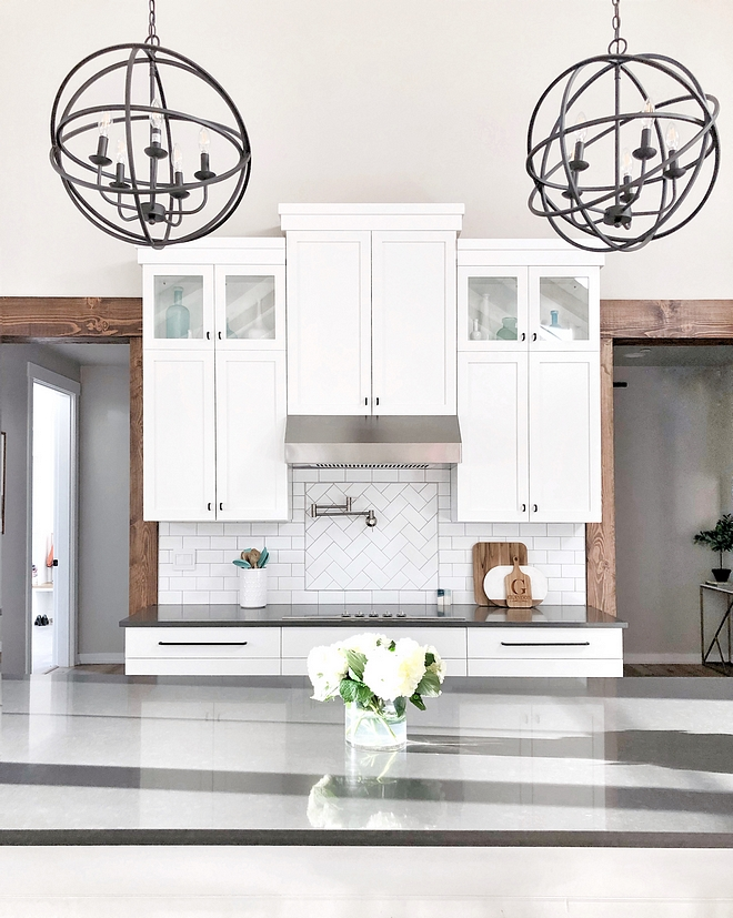 Sherwin Williams Extra White Kitchen Cabinet Sherwin Williams Extra White Kitchen Cabinet Sherwin Williams Extra White Kitchen Cabinet paint color #SherwinWilliamsExtraWhite #KitchenCabinet