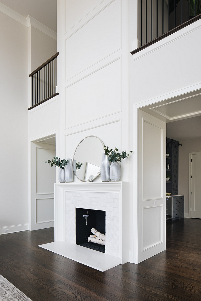 Fireplace Millwork Adorned by custom millwork, this fireplace is certainly the focal point of the Great room Fireplace Millwork Fireplace Millwork #FireplaceMillwork #Fireplace #Millwork