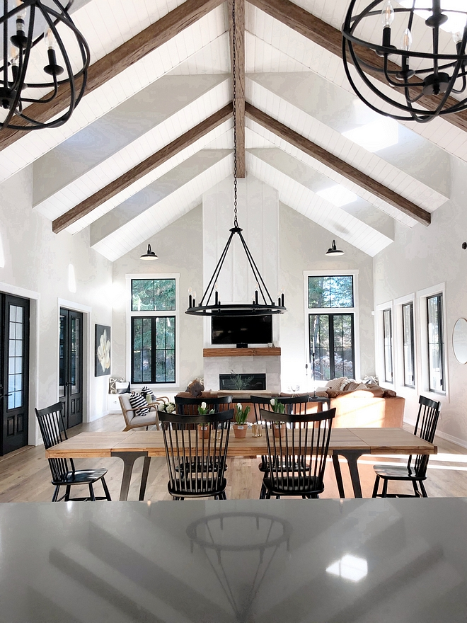 Faux beams Get the look of real ceiling beams for a fraction of the price The cathedral ceiling feature beams and shiplap Faux beam Faux beams Faux ceiling beams #Fauxbeam #Fauxbeams #Fauxceilingbeams