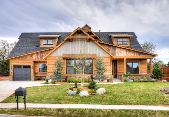 Mid century modern farmhouse home bunch interior design - Rustic modern farmhouse exterior ...