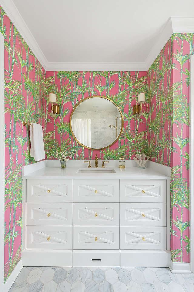 Kids Bathroom Wallpaper Pink and Green Wallpaper Kids Bathroom Wallpaper Pink and Green Wallpaper #KidsBathroom #Wallpaper #PinkandGreen