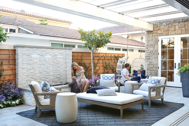 Patio Private Patio Patio with pergola and hanging chairs #Patio