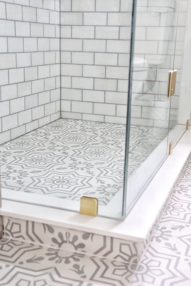 Tip Using the same tile on floors and shower pan makes the bathroom feel bigger. Keep that in mind when renovating #bathroom #renovation #tile