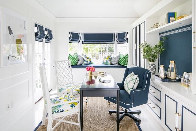 Home Office Home Office Home Office with window seat #HomeOffice