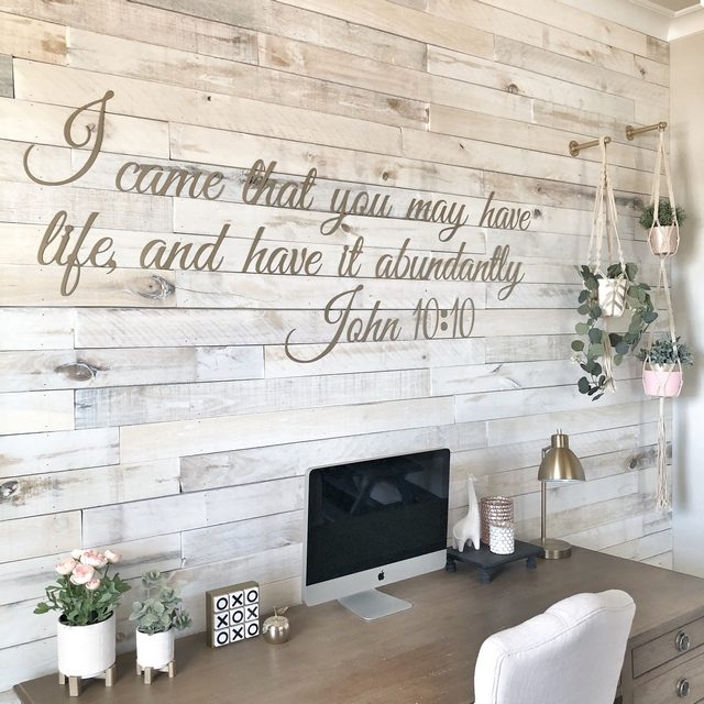 Metal signs over shiplap wall #Metalsigns #shiplap #wall