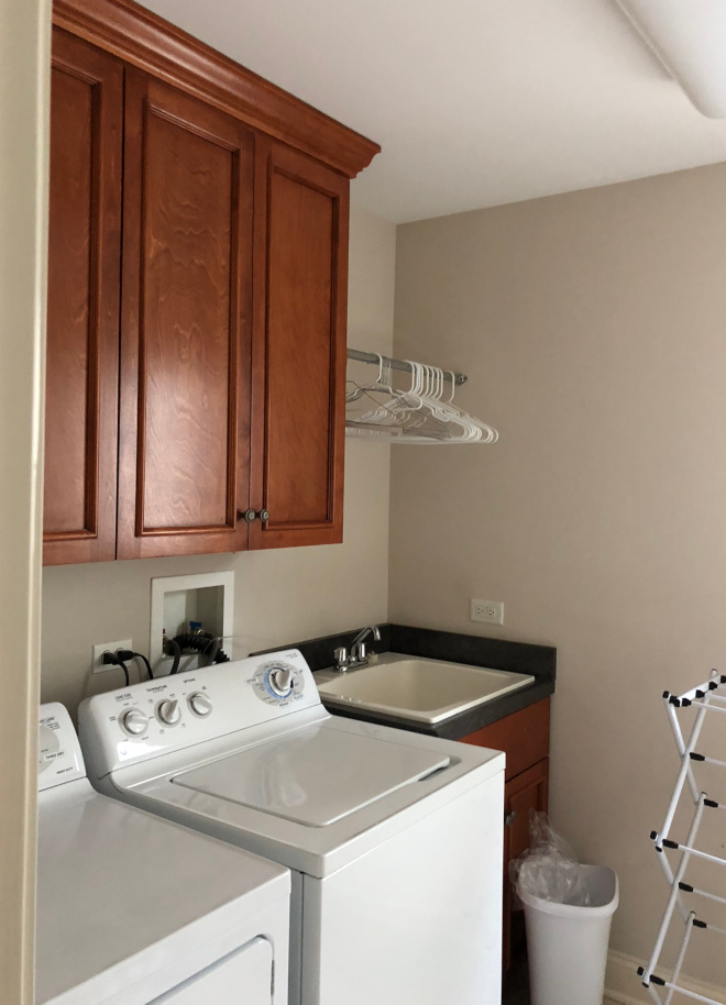 Before laundry room renovation pictures