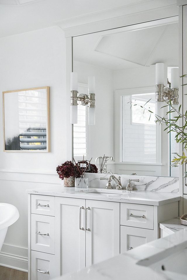 Vertical double light sconces Bathroom Vertical double light sconces Vertical double light sconces in bathroom #Verticaldoublesconces #doublesconces #bathroom #sconces
