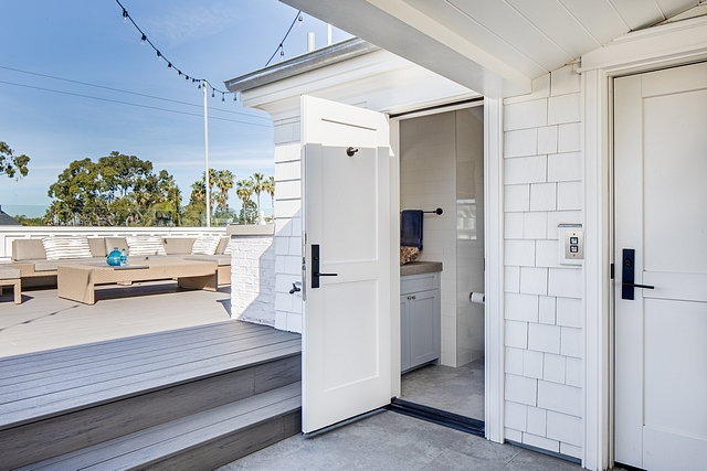 Rooftop bathroom