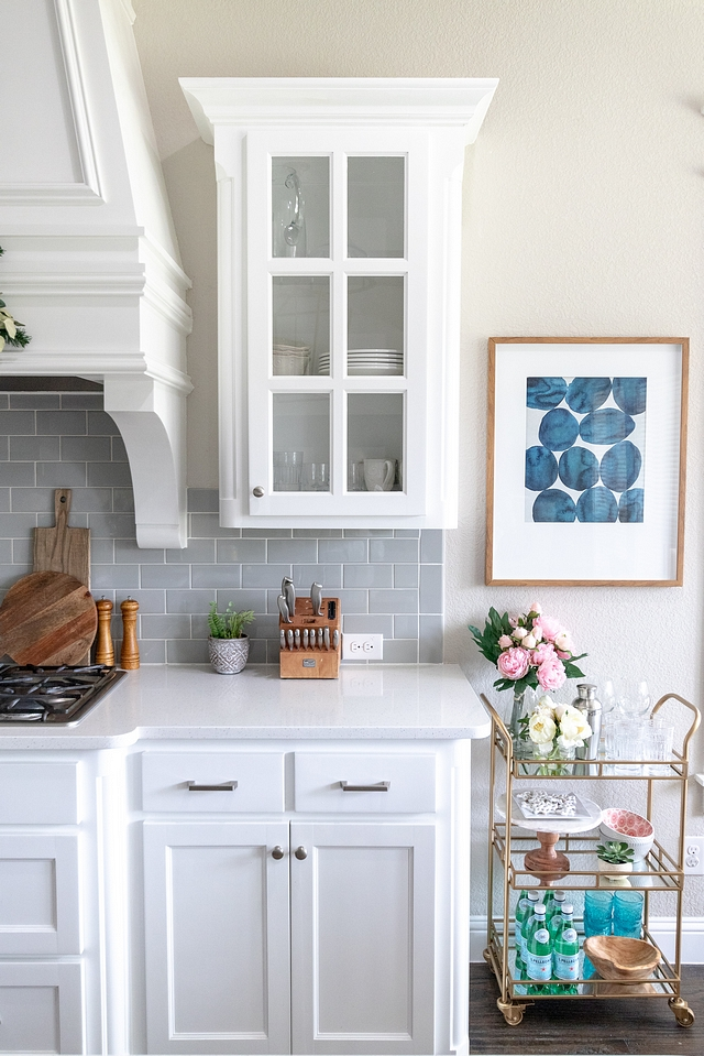 Benjamin Moore OC-65 Chantilly Lace Kitchen Cabinet with grey subway tile Affordable change Benjamin Moore OC-65 Chantilly Lace Kitchen Cabinet Benjamin Moore OC-65 Chantilly Lace Kitchen Cabinet Benjamin Moore OC-65 Chantilly Lace Kitchen Cabinet #BenjaminMooreOC65ChantillyLace #KitchenCabinet