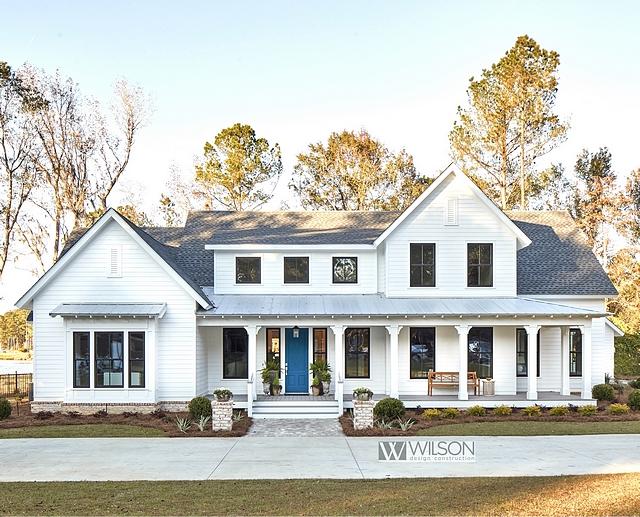 Modern Farmhouse With Front Porch Home Bunch Interior Design Ideas