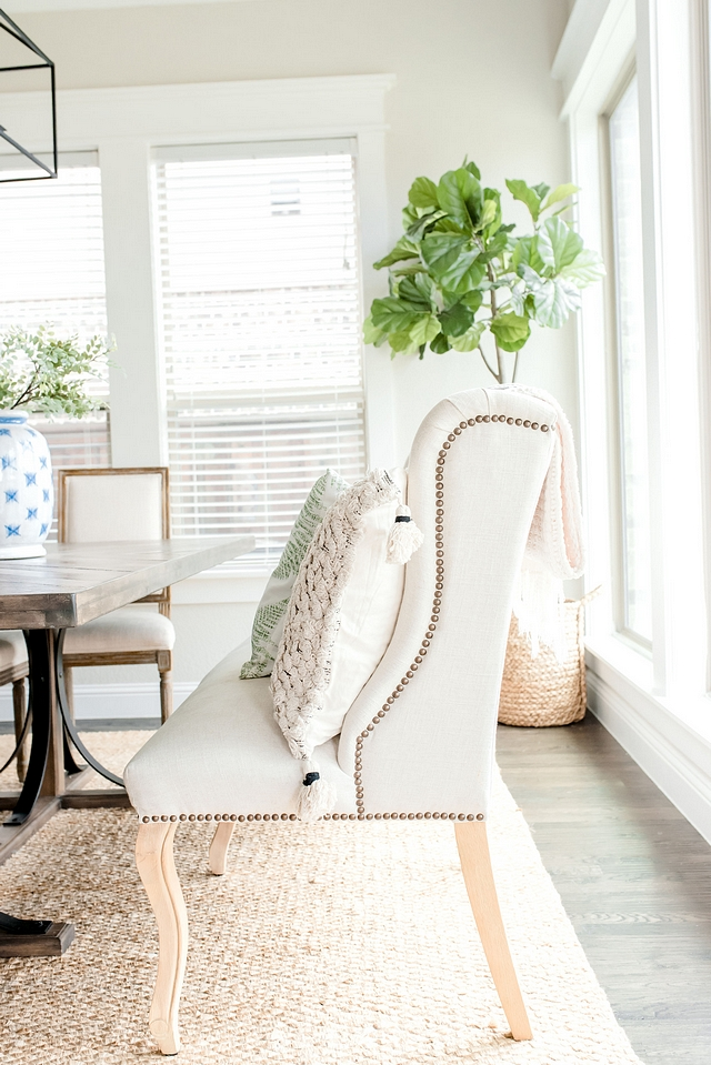 Dining room Banquette Settee I always wanted to have a large banquette in our dinning room for casual gathering and to allow for my seating Dining room Banquette Settee #Diningroom #Banquette #Settee