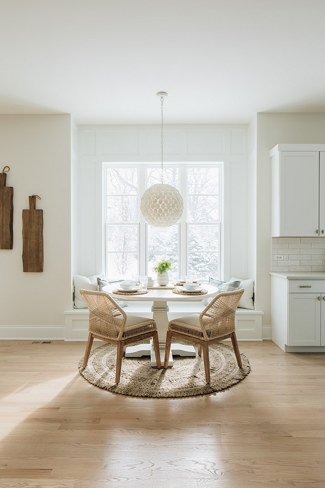 Breakfast nook board and batten Breakfast nook The breakfast nook features a built-in banquette with custom board and batten trim Breakfast nook board and batten Breakfast nook Breakfast nook board and batten Breakfast nook #Breakfastnook #boardandbatten