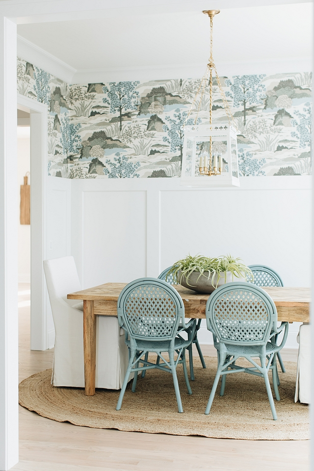Wallpaper above wainscoting Dining Room Wallpaper Thibaut Daintree in Aqua Wallpaper above wainscoting Wallpaper Thibaut Daintree in Aqua Wallpaper above wainscoting Wallpaper Thibaut Daintree in Aqua #Wallpaper #wallpaperabovewainscoting #Wallpaper #diningroomwallpaper #diningroom #ThibautDaintree