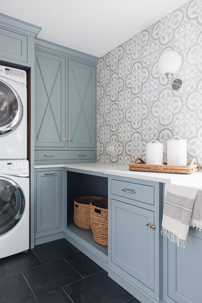Home bunch s top 5 cabinet paint colors home bunch - Laundry room color ideas ...