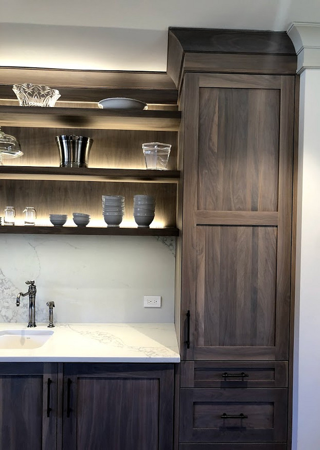 Greywash on Oak Cabinet This Oak cabinet with greywash looks great with the marble-looking quartz countertop and slab backsplash Greywash on Oak Cabinet This Oak cabinet with greywash #Greywashcabinet #OakCabinet #Oakcabinetwithgreywash