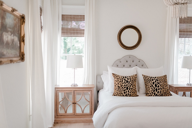 I went completely neutral in our bedroom I count leopard as a neutral I wanted it to be a calming retreat where we would truly feel relaxed #neutralbedroom #leopardpillow #neutrals