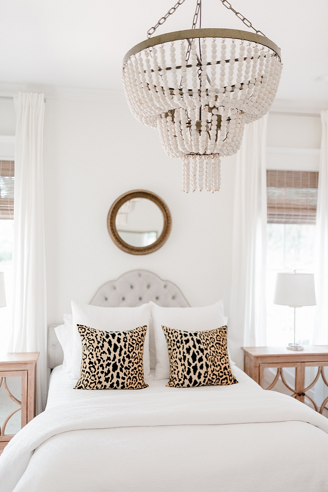 White beaded chandelier Bedroom featuring an affordable white beaded chandelier #whitebeadedchandelier #beadedchandelier #chandelier