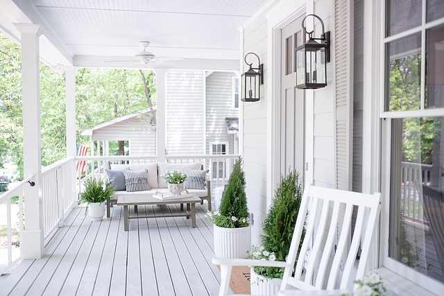 Porch Front Porch My goal when designing and decorating our porch was to make it feel like a warm welcome #porch #frontporch #porchdecor #porchdecorideas #porchdecorating