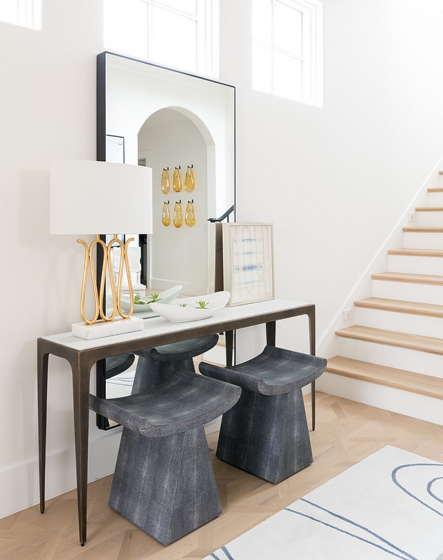 Foyer console table with metal legs and marble top Stool are Madegoods Foyer console table Foyer Entry Table Foyer console table with metal legs and marble top Stool are Madegoods #Foyer #consoletable #metallegsconsoletable #marbletopconsoletable