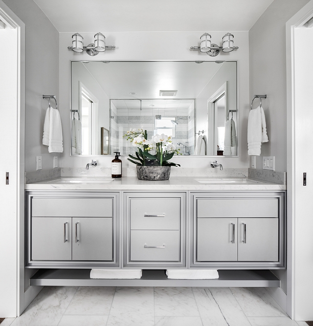 Sherwin Williams SW 6255 Morning Fog Grey Bathroom Cabinet Paint Color Sherwin Williams SW 6255 Morning Fog Sherwin Williams SW 6255 Morning Fog #SherwinWilliamsSW6255MorningFog #SherwinWilliamsSW6255 #SherwinWilliamsMorningFog