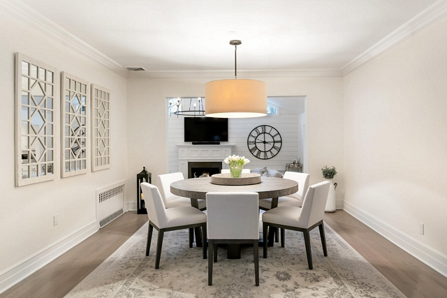 Dining room Renovation This room was also very compartmentalized; we removed doors and decorative columns to give the rooms a more cohesive and open flow Dining room Renovation Dining room Renovation Dining room Renovation #Diningroom #DiningroomRenovation