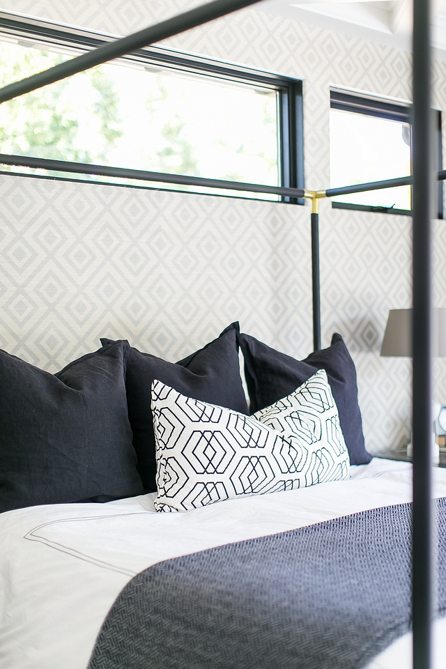 Bedding color scheme Black white and grey Bedding color scheme Bedding color scheme ideas Home decor #Bedding #colorscheme #homedecor