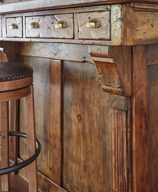 Rustic Cabinet Closeup of the antique bar complete with apothecary drawers and brass bin pulls Rustic Cabinet Closeup of the antique bar complete #RusticCabinet #cabinet #bar #binpull #pull
