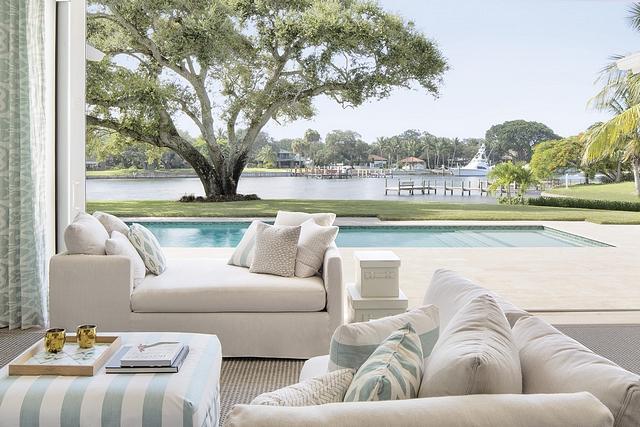 Coastal Beach House This home has been designed with an eye toward contemporary coastal with classic touches throughout #Coastalbeachhouse #beachhouse #coastalhomes