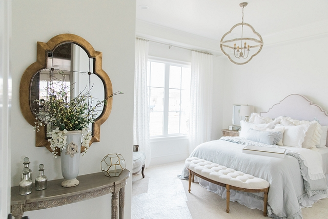 Romantic bedroom French Romantic bedroom design White and light grey accents Romantic bedroom French Romantic bedroom design #Romanticbedroom #Frenchbedroom #Romanticbedroomdesign