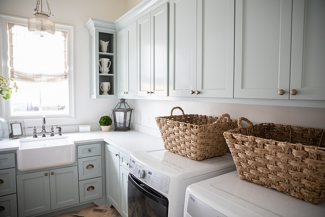 Blue grey cabinet paint color Sherwin Williams SW 7621 Silvermist Laundry room cabinet Sherwin Williams SW 7621 Silvermist #Bluegrey #cabinet #paintcolor #SherwinWilliamsSW7621Silvermist #Laundryroom #Laundryroomcabinet #SherwinWilliams #Silvermist