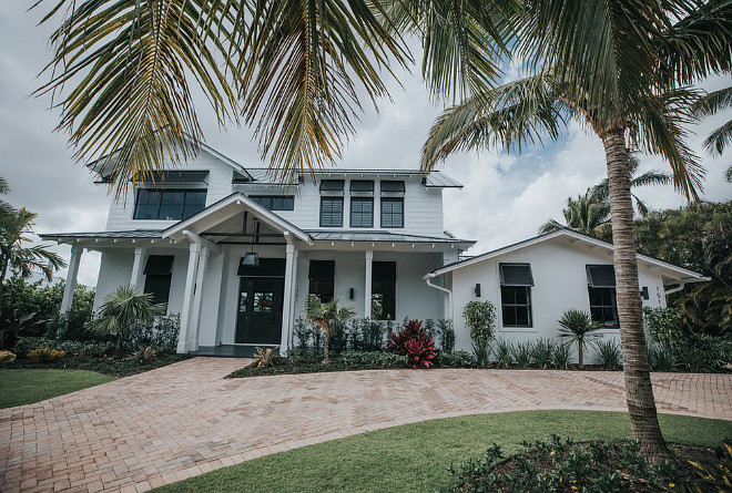Coastal White House With Shutters