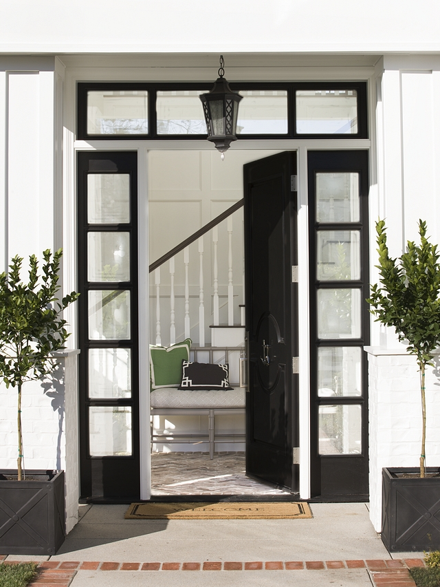 Traditional Black Front Door with sidelights Traditional Black Front Door with sidelights Traditional Black Front Door with sidelights #TraditionalBlackFrontDoor #TraditionalBlackFrontDoorwithsidelights #Doorwithsidelights
